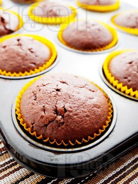 Какаови мъфини - снимка на рецептата